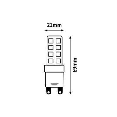 SMD LED G9 8W 800lm 3000K