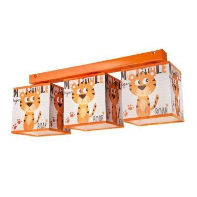 KIDS menny.3×60W E27 tigris mintás