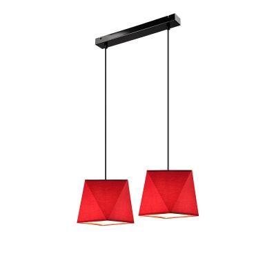 CARLA függ.2×60W E27 fek/piros szöv