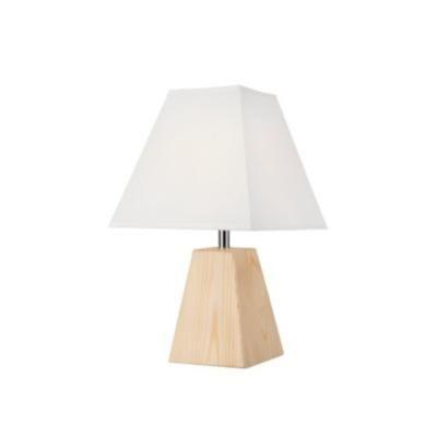 Asztali1×40W E14 natúr szögletes/fe