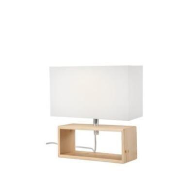 Asztali1×40W E14 natúr téglatest/fe