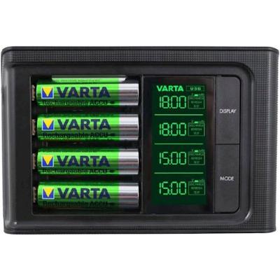 Varta elem akkumulátor töltő LCD okos töltő 4 db AA 2100mAh akkumulátorral