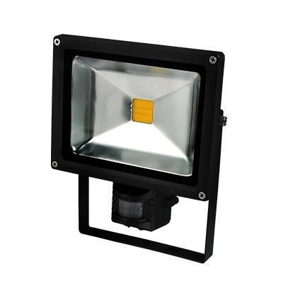 LED FÉNYV. MOZG. 30W IP65 FEKETE